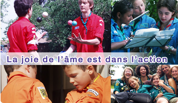 Les unitées de notre groupe Scouts et Guide de France (XVeme LILLE)